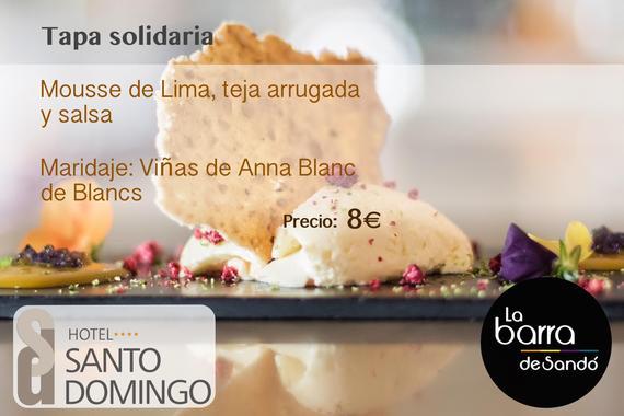 Imagen con texto Mousse de Lima Tapa Tour 2017 Barra de Sandó