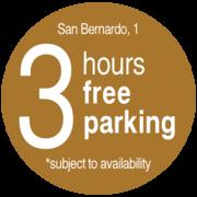 Banner circular EN 3 hours free parking