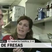 Gazpacho de fresas de Sandó en Telemadrid