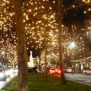luces de navidad en la calle