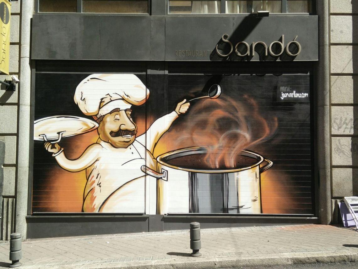 Mural puerta Restaurante Sandó