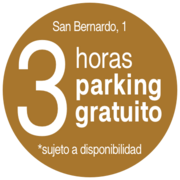 3 horas de Parking gratis