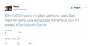 Tweet ganador concurso San Valentin Sando 2017